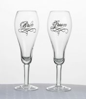Bride And Groom Script Toasting Glasses